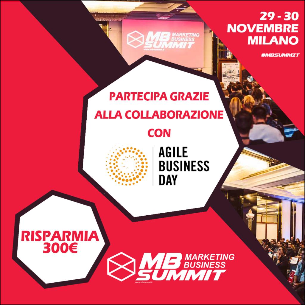 agile business day mbsummit media partnership sconto biglietti